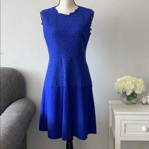 Eliza J Royal Blue High Neck Sleeveless Dress 6